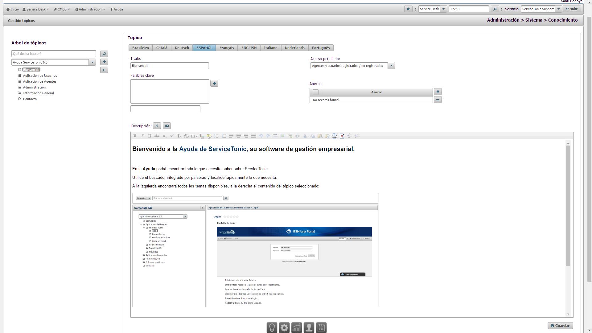Base de conocimientos html con imágenes