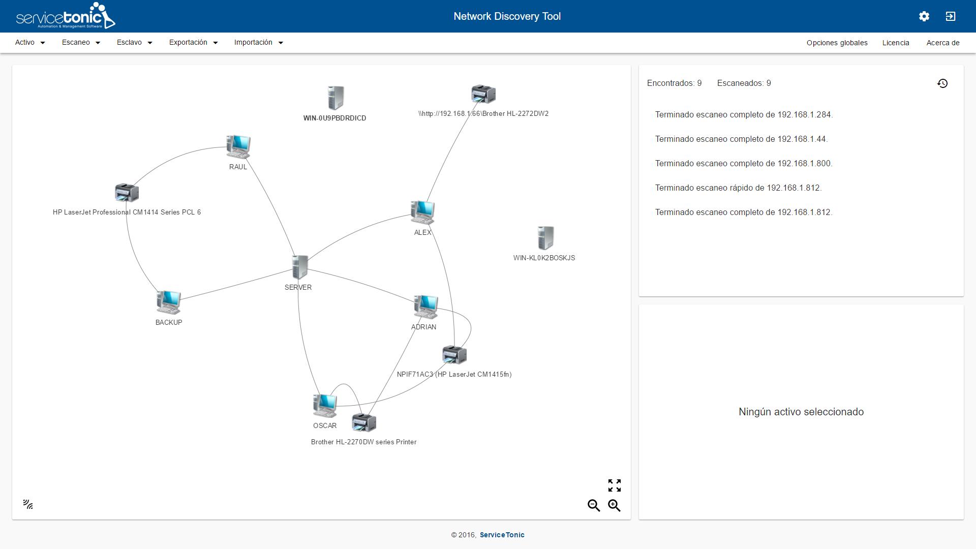 Network Discovery Tool: Visualización Gráfica